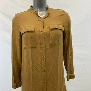 Divided H&M Beige Long Sleeve Tunic Women's Size 8